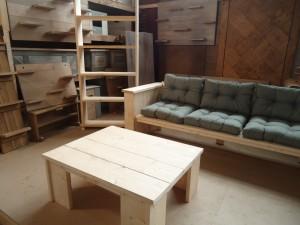 loungebank steigerhout buiten tafel tuinkast zwolle