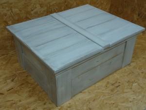 witte eiken houten kist