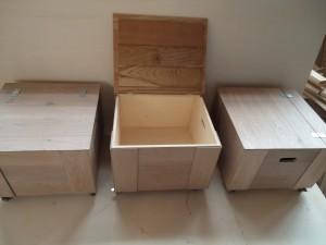 houten kisten op wielen