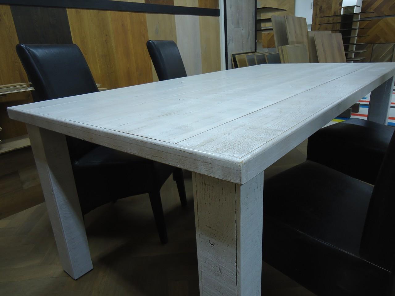 Wit Eiken Tafel : Eiken tafel verven te belbin