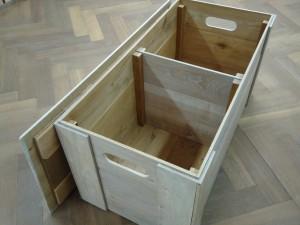 houten kist salontafel