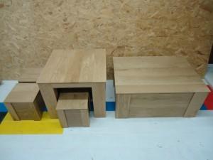 eiken houten tafel opberg kist meubelmaker zwolle