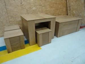 eiken houten tafel eiken kist meubelmaker zwolle