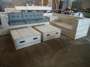 tuinbank hoekbank steigerhout meubelmaker timmerman zwolle