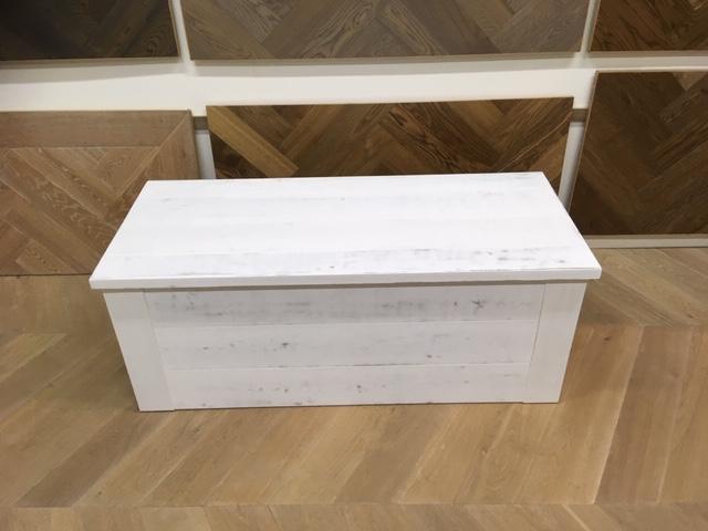 Witte Houten Box.Grote Robuuste Witte Houten Kist Robuustemeubels Nl