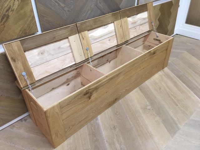 robuuste eiken houten kist